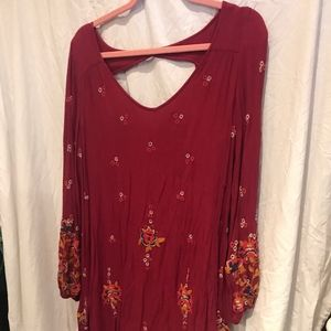 Free People peasant embroidered dress tunic